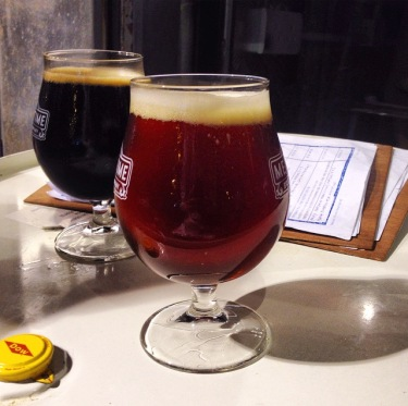Pictured: Island 1842 from Young Master Ales (front) and Sevens Stout from Hong Kong Beer Company (rear)
